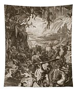 Scene Of Hell, 1731 Tapestry