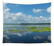 Scenic View Of A Lake Against Cloudy Tapestry