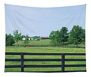 Scenic View Of Horse Farm, Woodford Tapestry