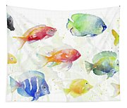 School Of Tropical Fish Tapestry
