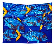 Schooling  Jack Fish Tapestry