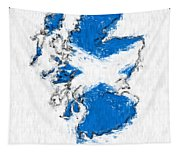 Scotland Painted Flag Map Tapestry