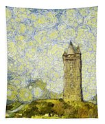 Starry Scrabo Tower Tapestry