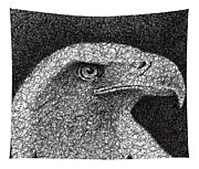 Scribble Eagle Tapestry