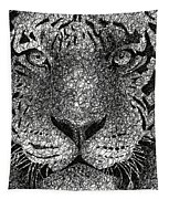 Scribble Tiger Tapestry