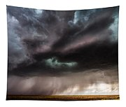 Sculpture - Turquoise Colored Storm Over Kansas Plains Tapestry