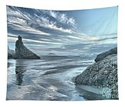 Sculptures On The Shore Tapestry