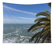 Sea And Palm Tree Tapestry