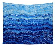 Sea And Sky Original Painting Tapestry