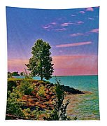 Sea And Tree Tapestry