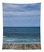 Sea And Wooden Platform Tapestry