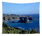 Sea Coast Of Northern California Tapestry