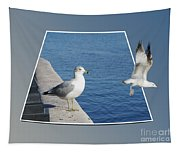 Sea Gull Away Out Of Bounds Tapestry