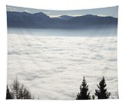 Sea Of Fog And Alps Tapestry