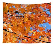 Sea Of Orange And Blue Tapestry