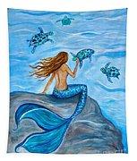 Sea Turtle Friends Tapestry