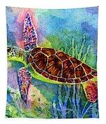 Sea Turtle Tapestry by Hailey E Herrera