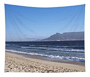 Sea With Table Mountain Tapestry