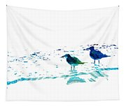 Seagull Art - On The Shore - By Sharon Cummings Tapestry
