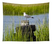 Seagull At Weeks Landing Tapestry