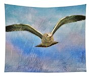 Seagull In The Storm Tapestry