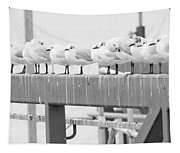 Seagulls In A Row Tapestry