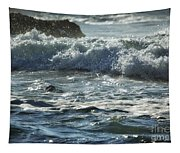 Seal Surfing Waves Tapestry