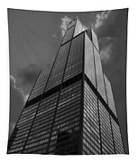 Sears Willis Tower Black And White 01 Tapestry