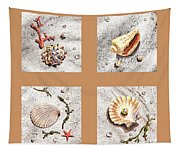 Seashell Collection II Tapestry