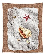 Seashell Pearls And Water Drops Collection Tapestry