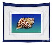 Seashell Wall Art 1 - Blue Frame Tapestry