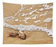 Seashells And Lace Tapestry