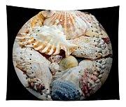 Seashells Baseball Square Tapestry
