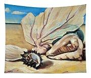 Seashore Shell Still Life Tapestry