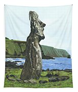 Seaside Moai Tapestry