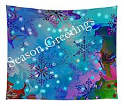 Season Greetings - Snowflakes Tapestry