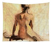 Seated Nude Tapestry