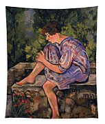 Seated Young Woman Tapestry