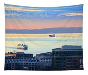 Seattle And Elliott Bay Tapestry