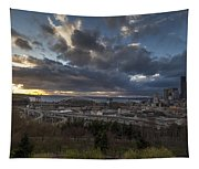 Seattle Dramatic Dusk Tapestry