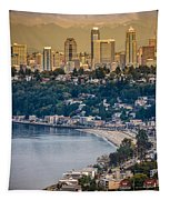 Seattle From The Air Tapestry