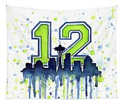 Seattle Seahawks 12th Man Art Tapestry