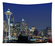 Seattle Skyline With Space Needle Tapestry