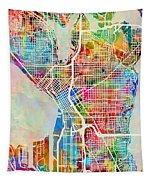 Seattle Washington Street Map Tapestry