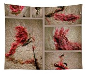 Seaweed Floral Collage Tapestry