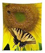 Secret Lives Of Sunflowers Tapestry