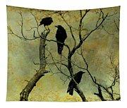 Secretive Crows Tapestry