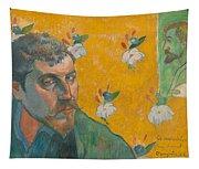 Self-portrait With Portrait Of Bernard. Les Miserables. Tapestry