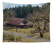 Selma Barn And Country Road Tapestry