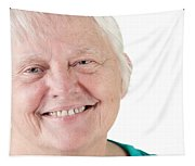 Senior Woman Portrait Smiling Tapestry